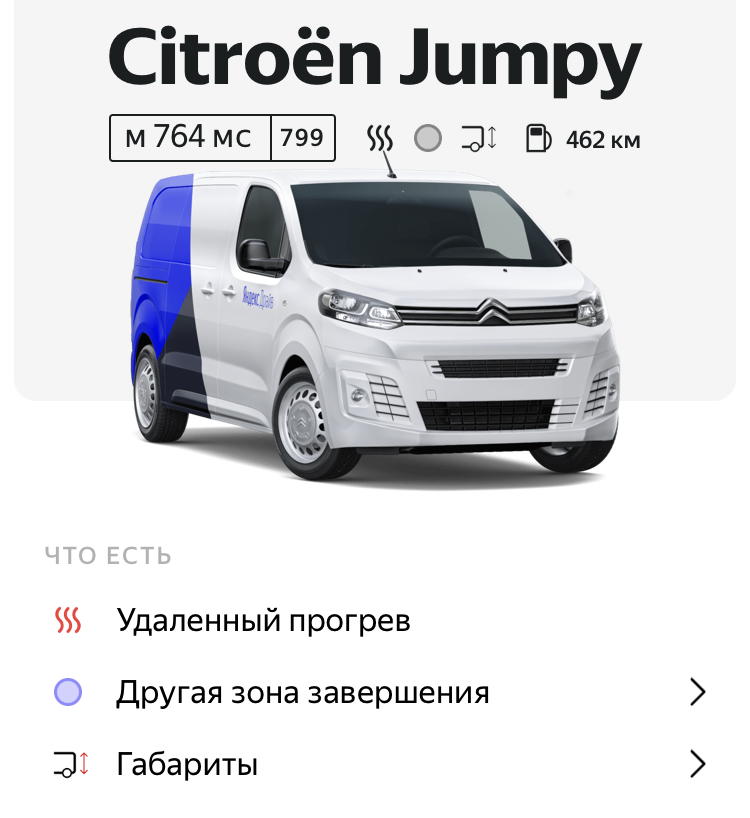 Citroen Jumpy в Яндекс Драйв