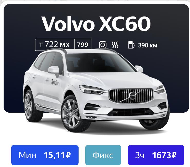 Volvo xc60 в Яндекс Драйв
